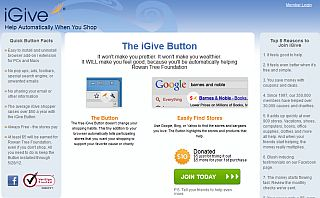 The iGive Registration Page